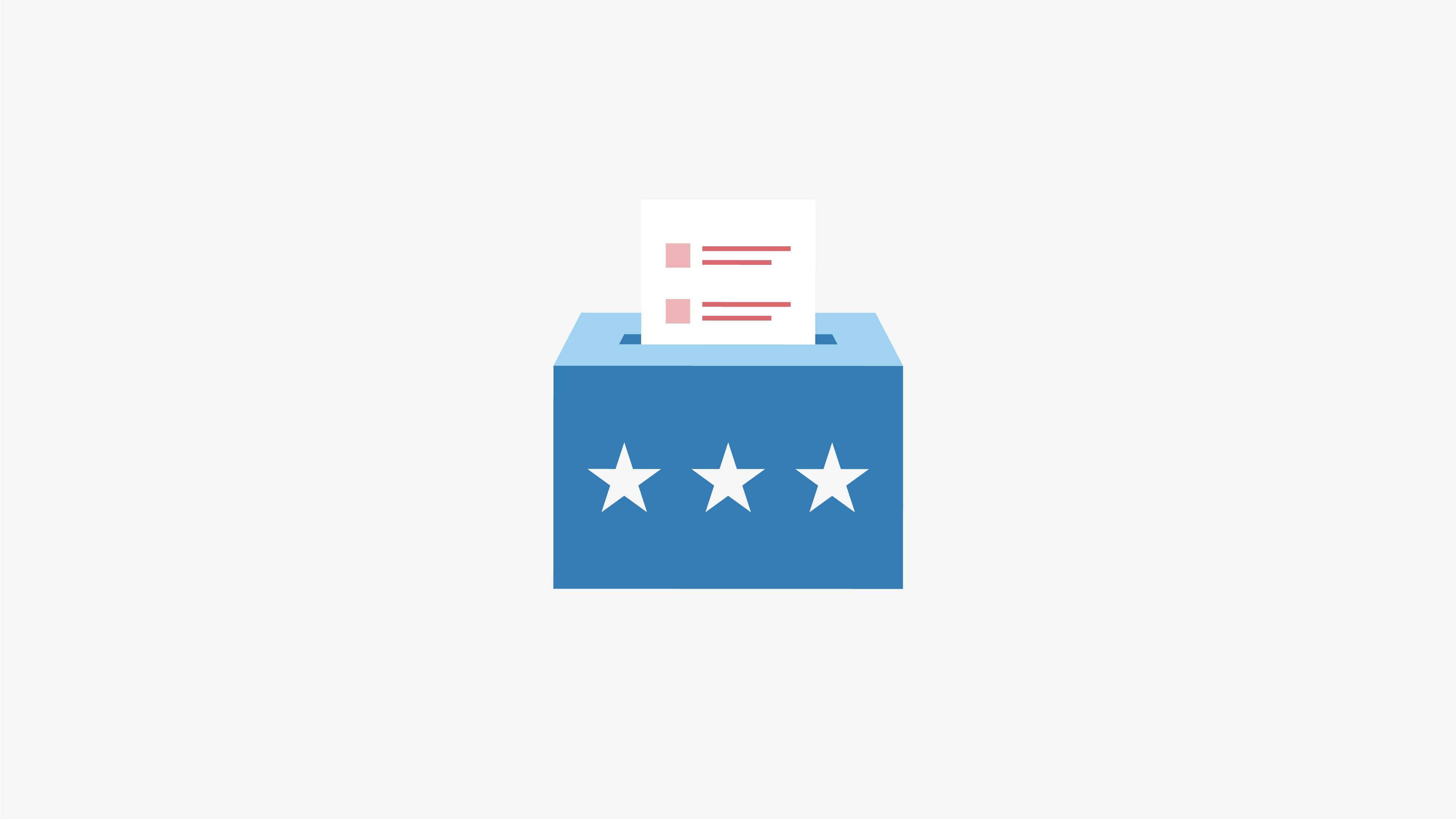 Elections ballot box graphic