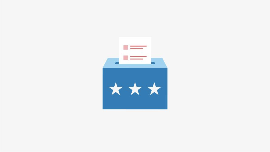 Elections ballot box graphic
