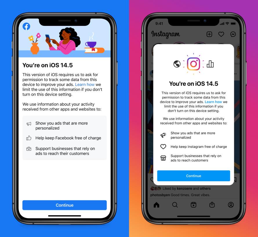 Facebook- en Instagram-notificatie op iOS 14.5