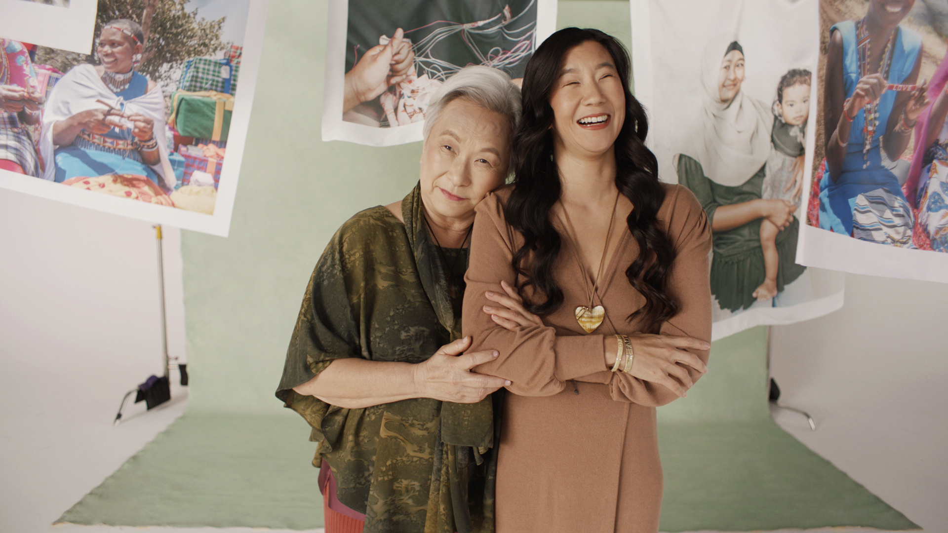 Photo of Chrissie Lam, Founder of the Love Is Project, with her mom Gladys Lam, CFO of the Love Is Project.