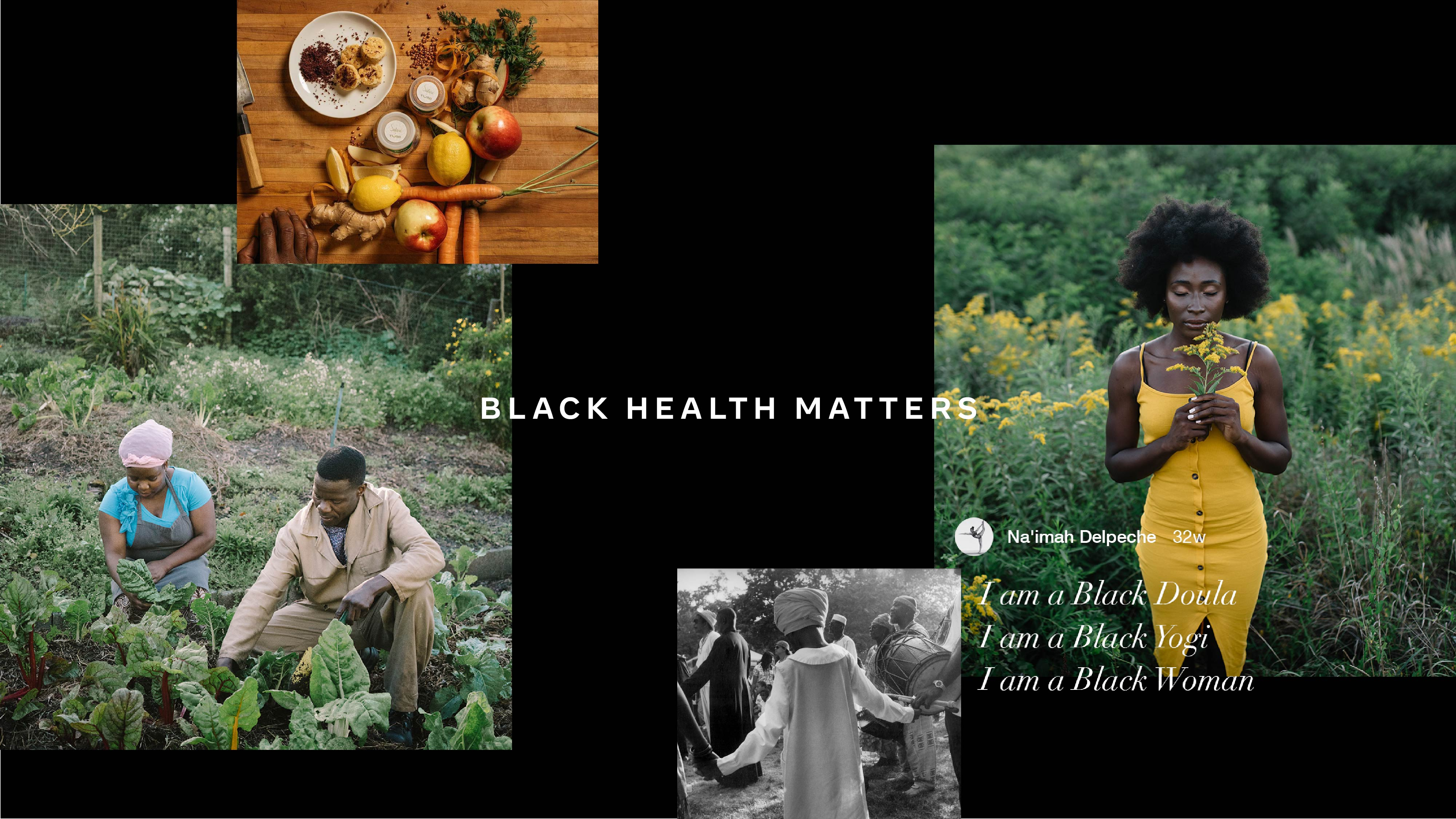 Black Health Matters photo collage