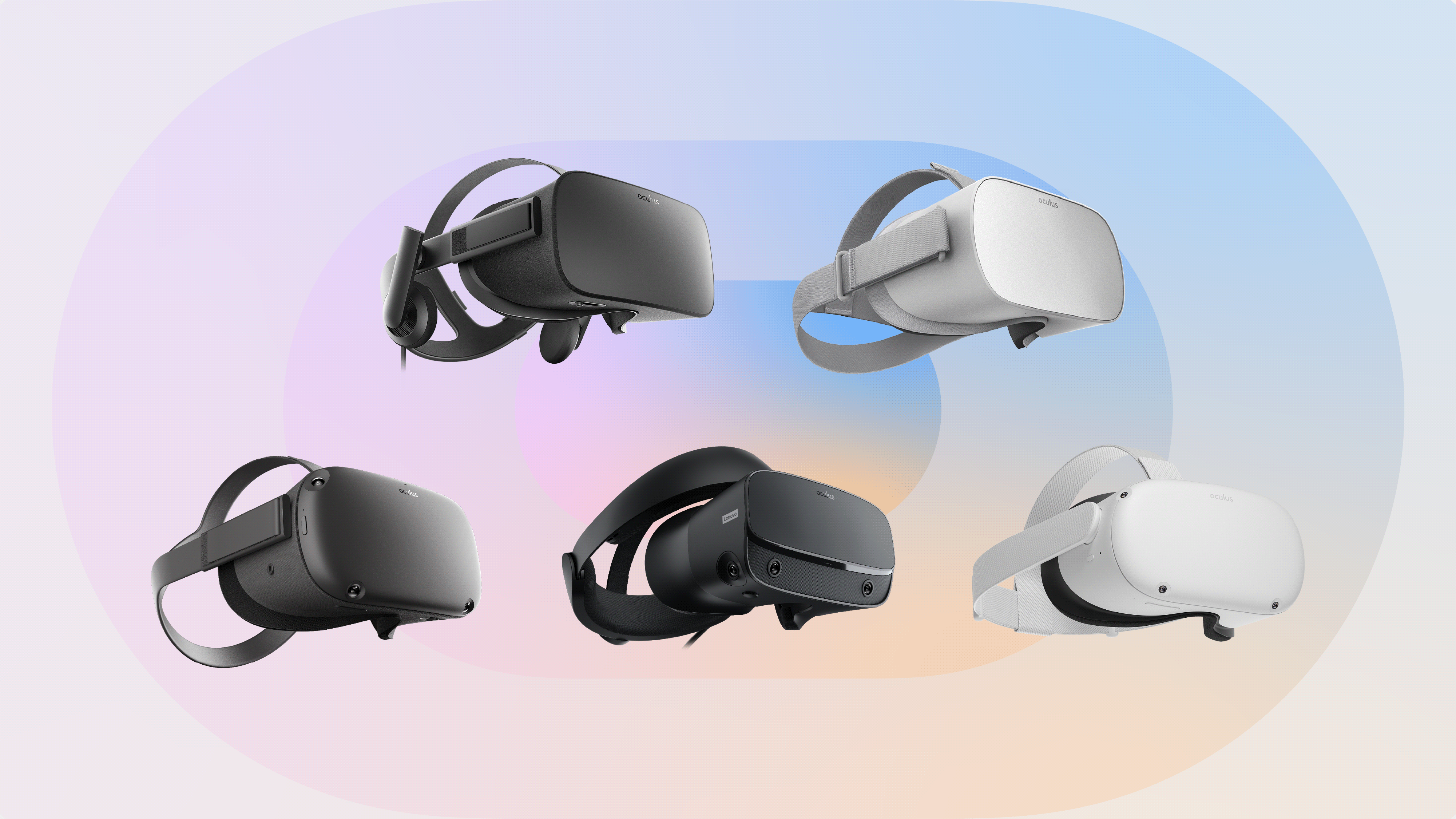 photo of several versions of Oculus