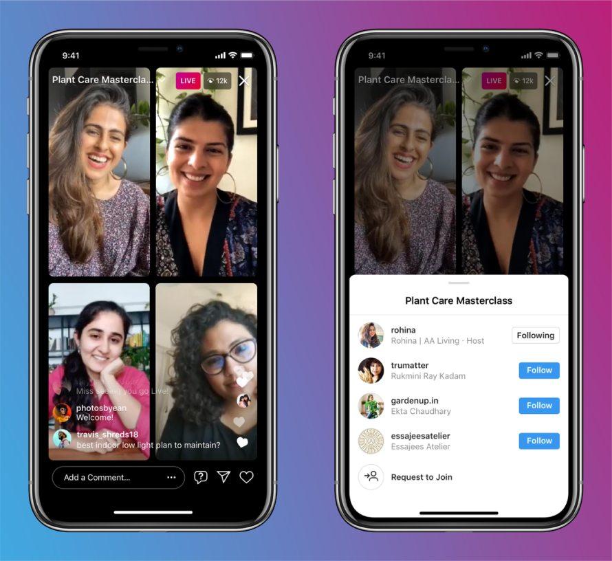 Instagram Live Rooms product mock