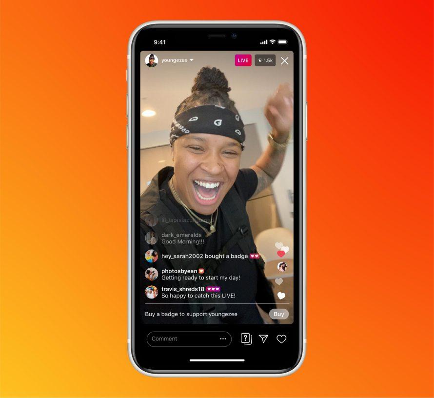 nstagram Live Rooms product mock