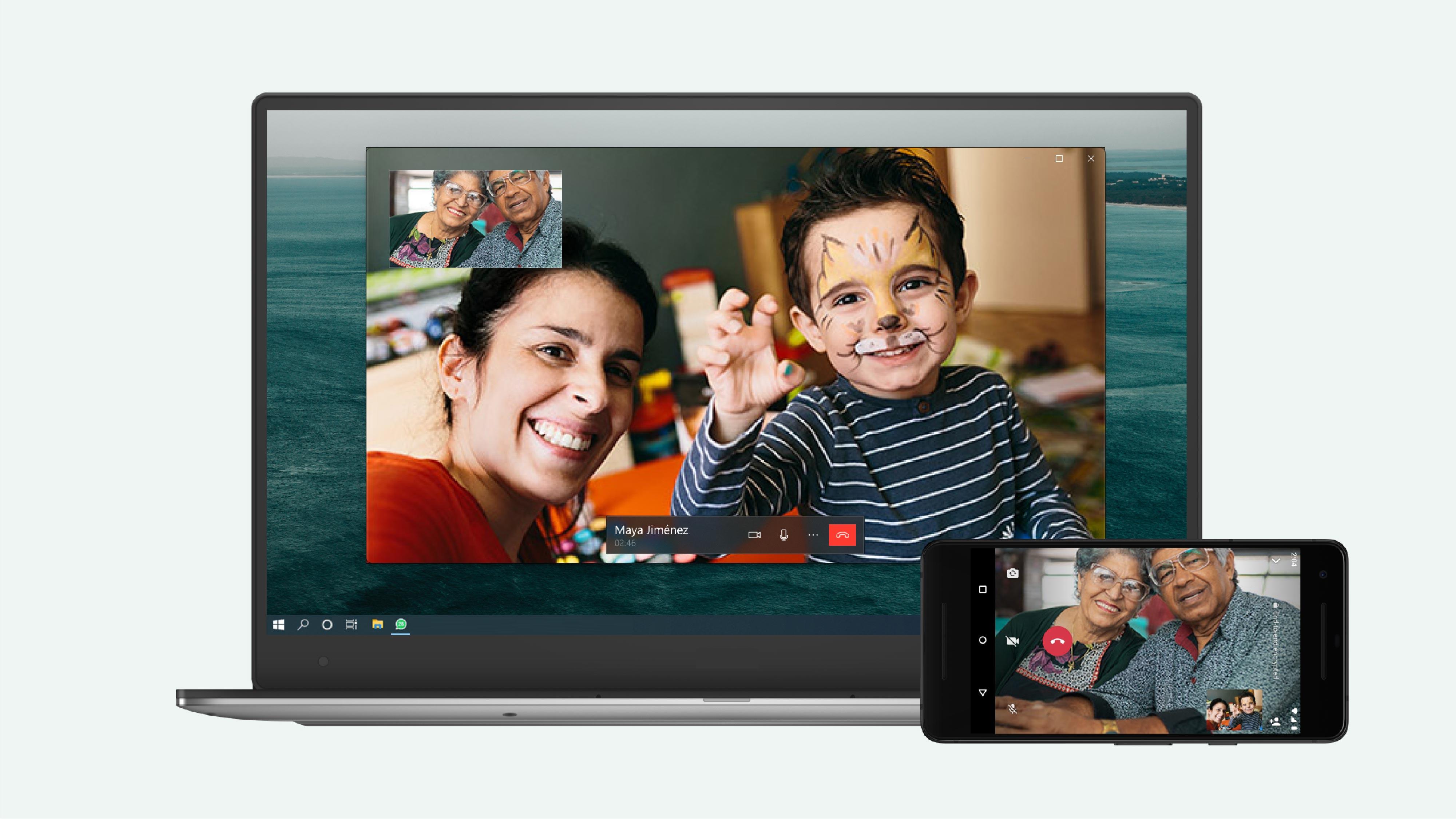 WhatsApp Video- und Sprachanrufe auf dem Desktop (Quelle: WhatsApp)