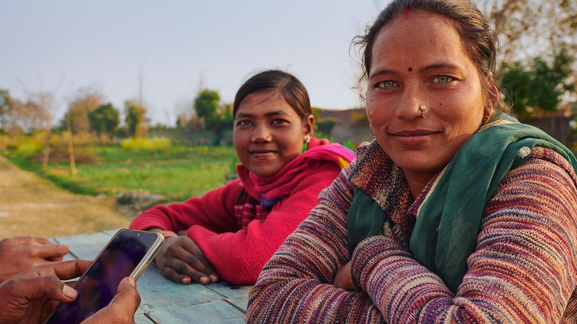 Photo of two women in Delhi, India