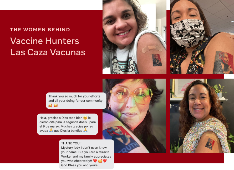 Photo of the women behind Vaccine Hunters Las Caza Vacunas
