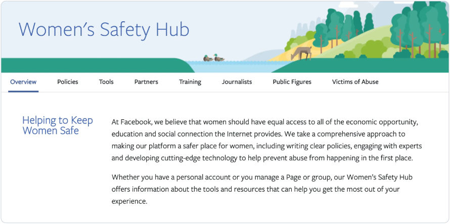 Screenshot of Women's Safety Hub