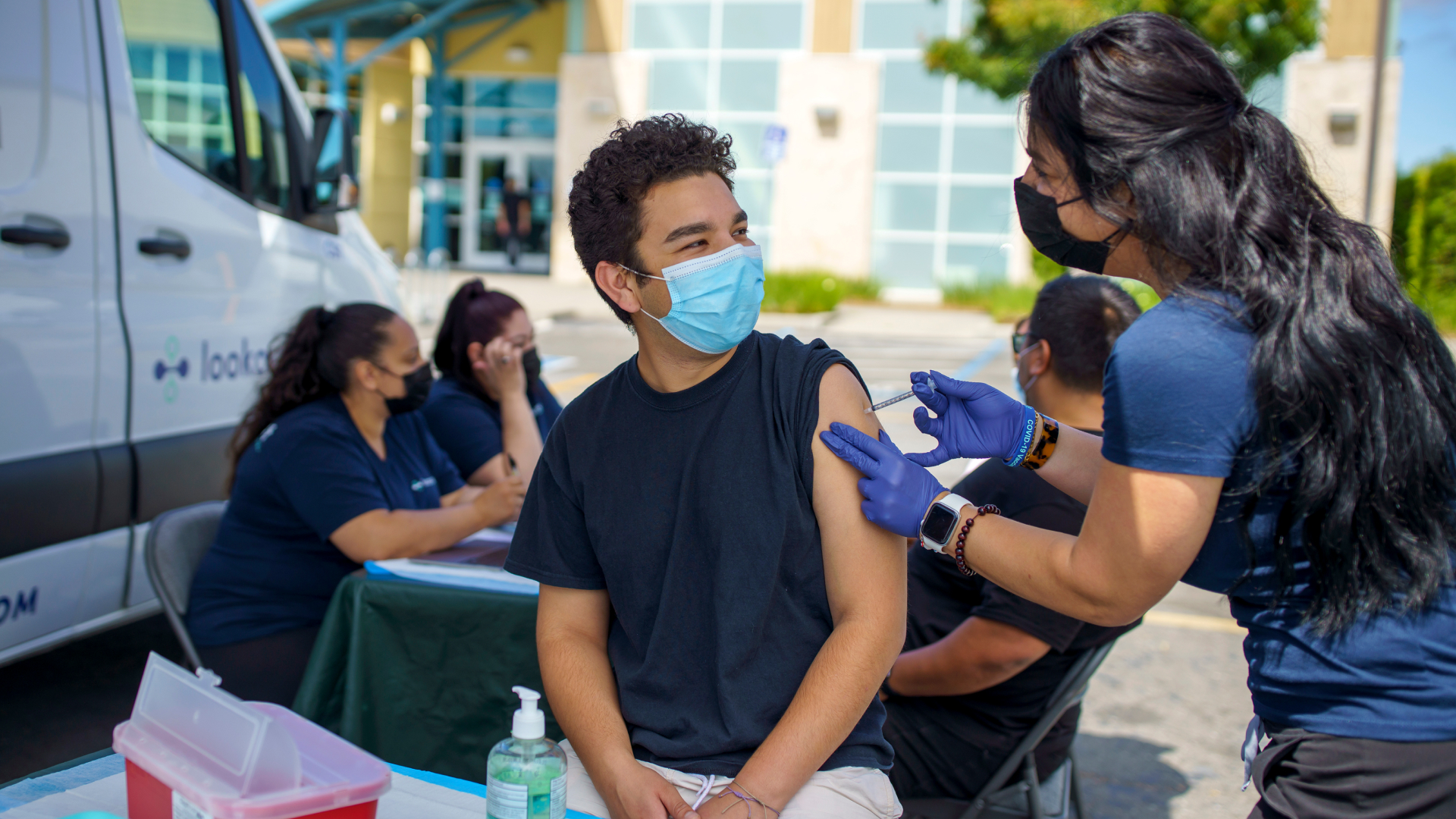 Image of person receiving COVID-19 vaccine