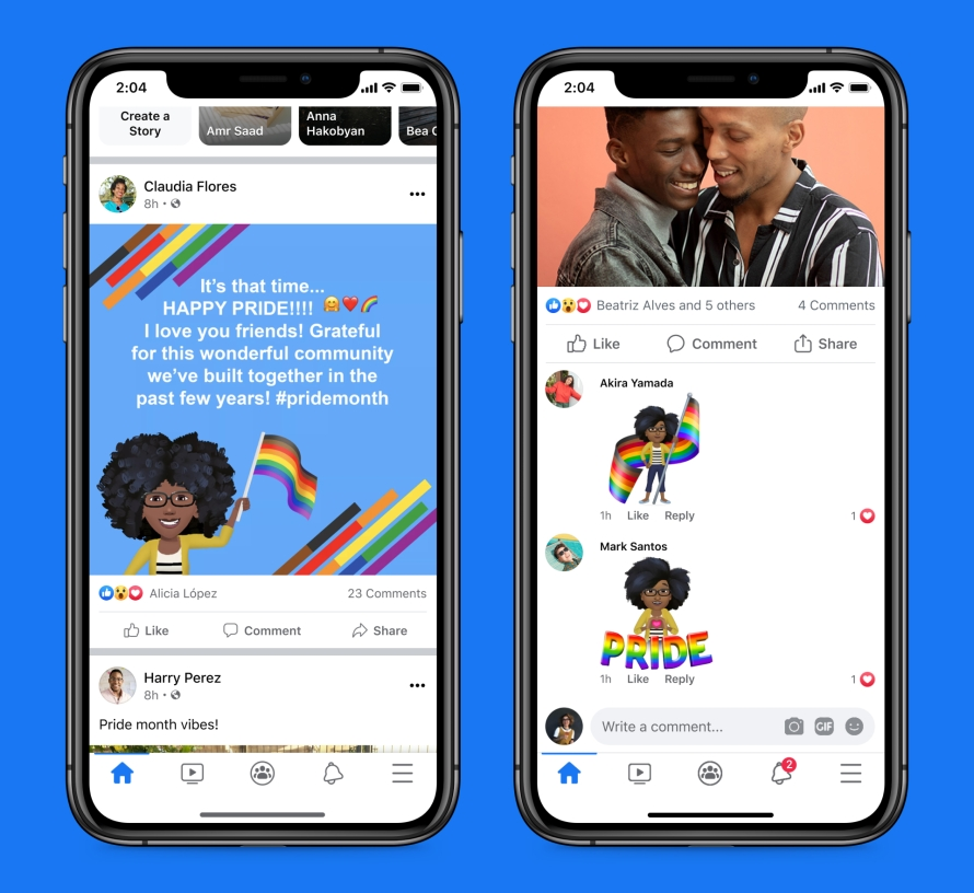 Pride Month product mocks