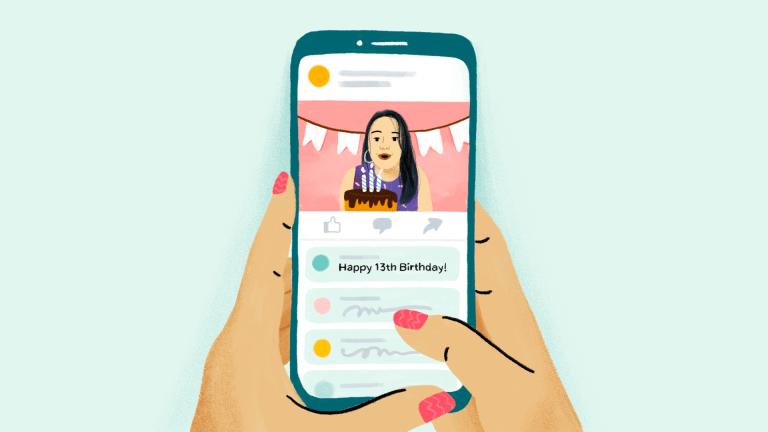Illustration of AI removing underage accounts
