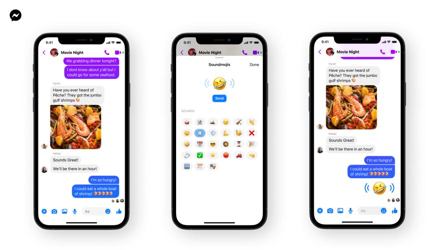Screenshot of Messenger Soundmojis