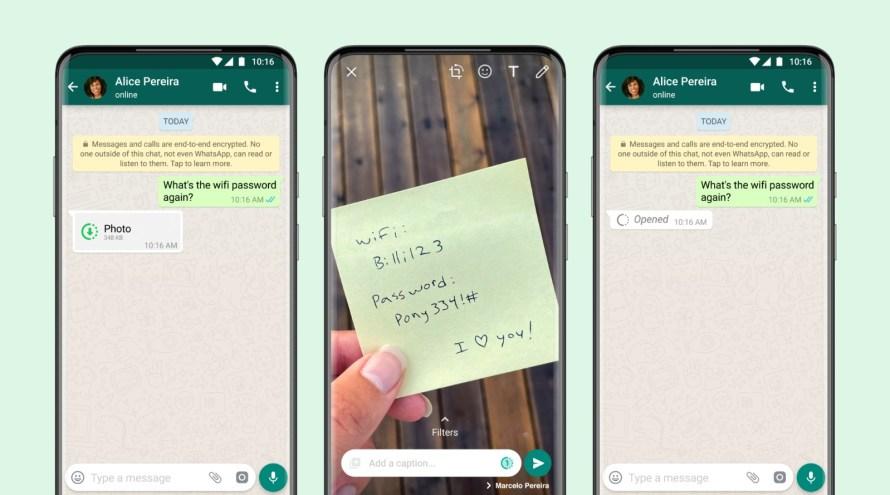Visualización única: WhatsApp oficializa los vídeos y fotos que desaparecen