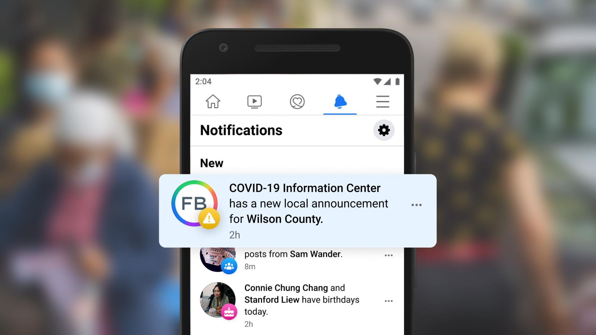 Screenshot of COVID-19 Alerts